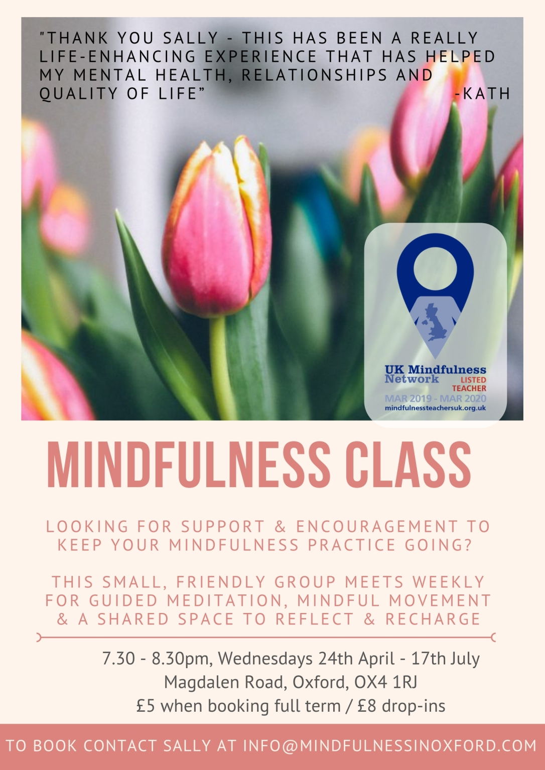Mindful Practice Group poster summer term 2019