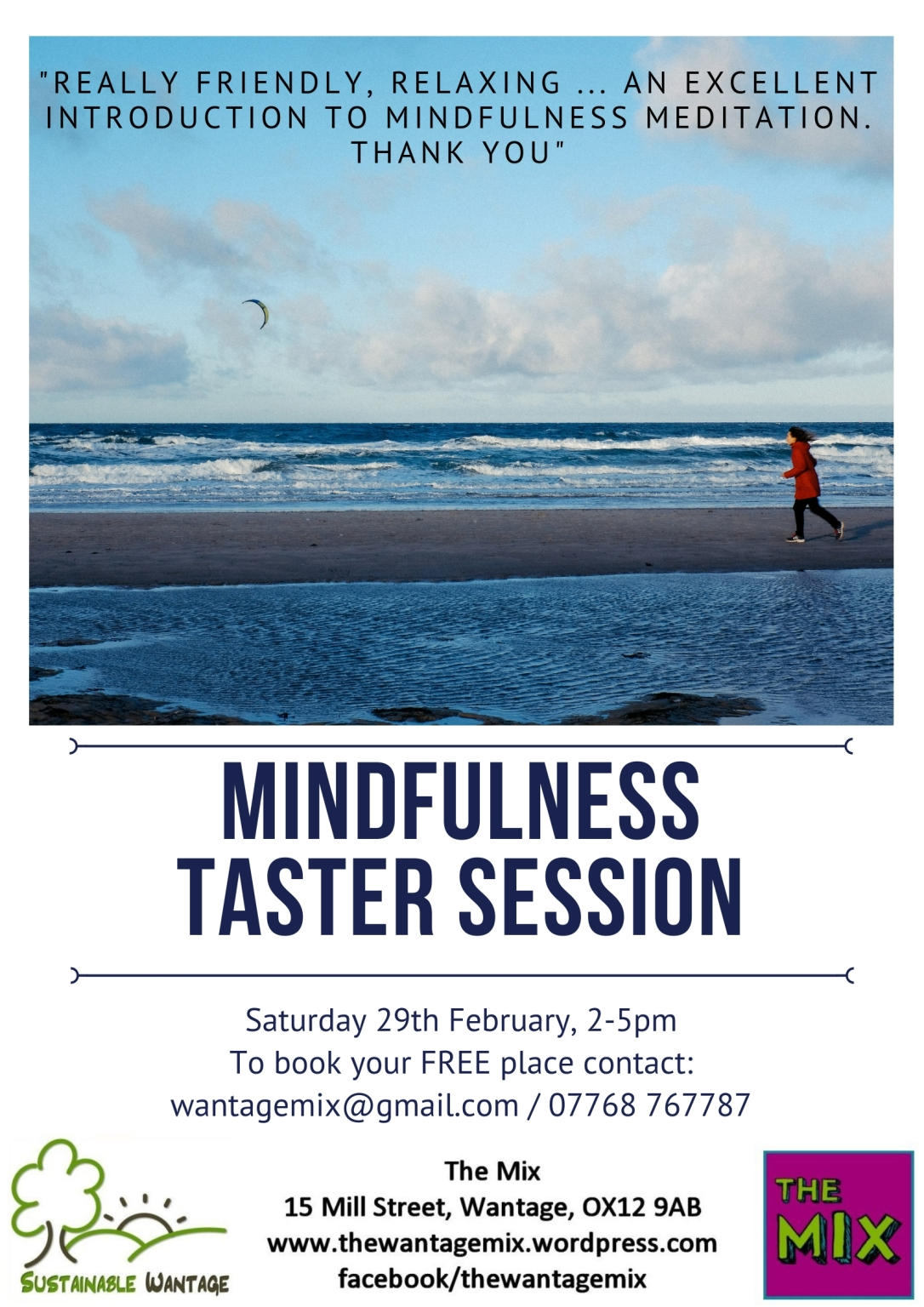 Poster for taster session at The Mix Feb 2020 2